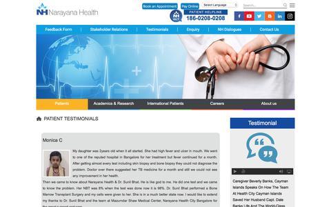 Patients Testimonials   Hospital Reviews   Narayana Health