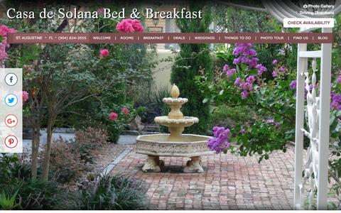 Screenshot of Contact Page Maps & Directions Page casadesolana.com - Directions to Casa de Solana Bed and Breakfast - captured April 28, 2017