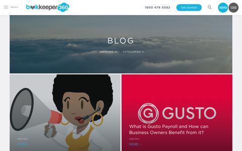 Screenshot of Blog bookkeeper360.com - Blog | Bookkeeper360 - captured July 5, 2017