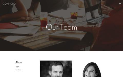 Screenshot of Team Page connovo.org - Team — Connovo - captured July 14, 2018
