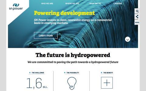 Screenshot of Home Page snpower.com - Start - captured Sept. 30, 2014