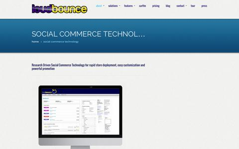 Screenshot of About Page loudbounce.com - Social Commerce Technology - captured Oct. 3, 2014