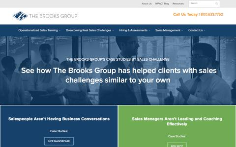 Screenshot of Case Studies Page brooksgroup.com - Case Studies By Challenge | Brooks Group - captured March 17, 2016