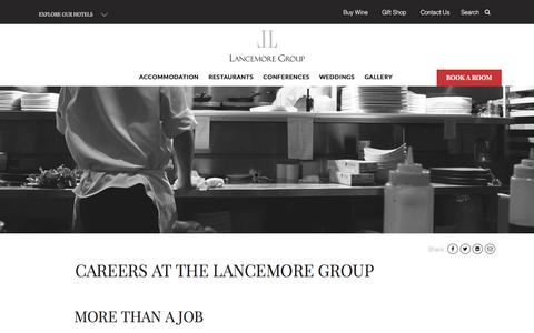 Screenshot of Jobs Page lancemore.com.au - Careers | Job Opportunities | Lancemore Group - captured Dec. 1, 2016