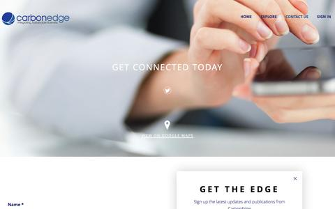 Screenshot of Contact Page carbonedge.com - CarbonEdge   Contact Us - captured July 11, 2016