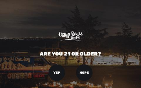 Screenshot of Locations Page oskarblues.com - Locations Archive | Oskar Blues - captured Feb. 20, 2019