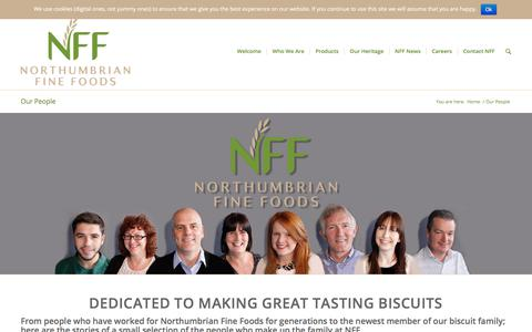 Screenshot of Team Page northumbrianfinefoods.com - Northumbrian Fine Foods - our amazing and hard working staff - captured June 14, 2017