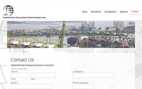 Screenshot of Contact Page i2si.com - Contact - Innovative Influence Strategies, Inc. - captured Sept. 20, 2018