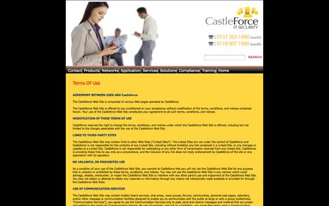 Screenshot of Terms Page castleforce.co.uk - Castleforce are IT Security, Business Continuity and Risk Management specialists - captured Oct. 2, 2014