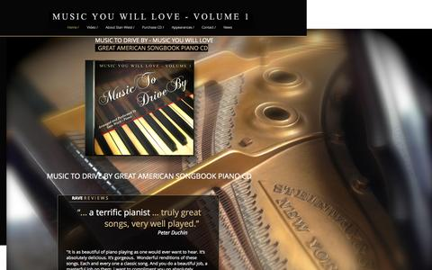 Screenshot of Home Page music-you-will-love.com - MUSIC YOU WILL LOVE - MUSIC TO DRIVE BY - captured Sept. 16, 2015
