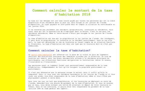 Screenshot of Home Page red-banana-tv.de - Calcul Taxe Habitation - captured Oct. 18, 2018