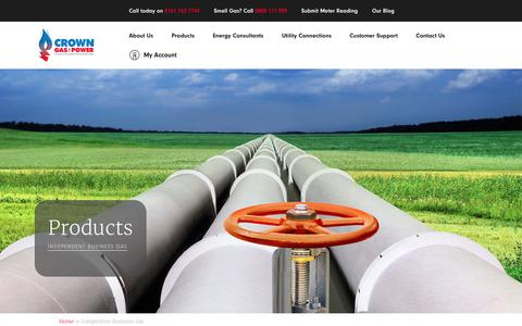 Screenshot of Products Page crowngas.co.uk - Competitive Business Gas | Crown Gas & Power - captured Nov. 11, 2018