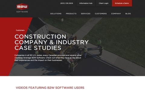 Construction Company Case Studies - B2W Software