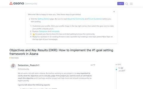 Objectives and Key Results (OKR): How to implement the #1 goal setting framework in Asana - Use Cases - Asana Community