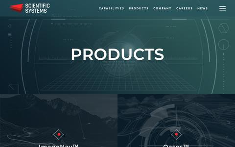 Screenshot of Products Page ssci.com - Products - Scientific Systems Company, Inc. | SSCI - captured Dec. 17, 2018