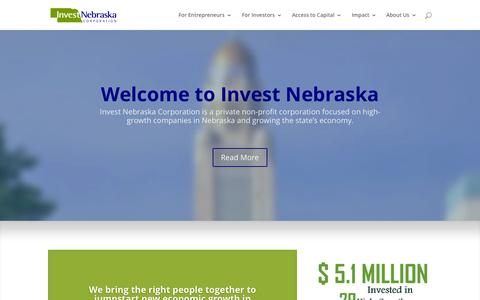 Screenshot of Home Page investnebraska.com - Invest Nebraska | Invest Nebraska - captured Oct. 11, 2015