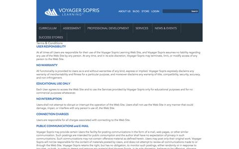 Screenshot of Terms Page voyagersopris.com - Terms | Voyager Sopris - captured March 1, 2016