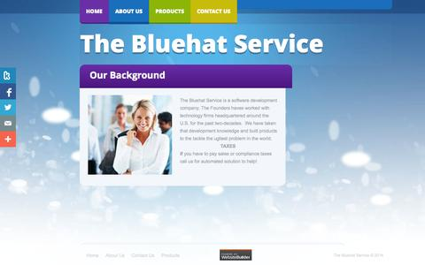 Screenshot of About Page bluehatservice.com - About Us - captured Nov. 4, 2014