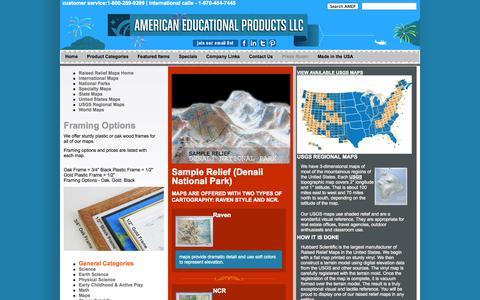 Screenshot of Maps & Directions Page amep.com - AMEP - Maps Home - captured Sept. 23, 2014