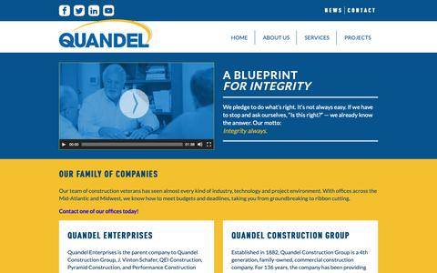 Screenshot of About Page quandel.com - Company - Quandel Construction - captured Sept. 29, 2018