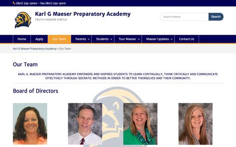 Screenshot of Team Page maeserprep.org - Our Team – Karl G Maeser Preparatory Academy - captured May 1, 2017