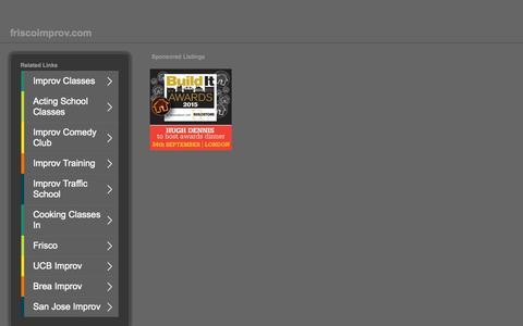 Screenshot of Home Page friscoimprov.com - friscoimprov.com-This website is for sale!-friscoimprov Resources and Information. - captured Sept. 12, 2015