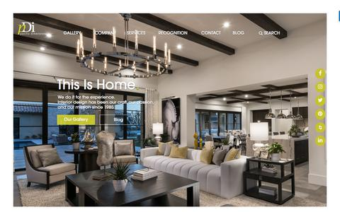 Screenshot of Home Page pacificdimensions.com - Interior Design & Merchandising for Home Builders | PDI - captured Sept. 26, 2018