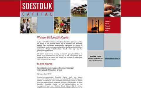Screenshot of Home Page soestdijkcapital.nl - Soestdijk Capital - captured Jan. 12, 2016