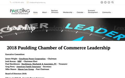 Screenshot of Team Page pauldingchamber.org - Paulding Chamber of Commerce Leadership - captured Oct. 21, 2018