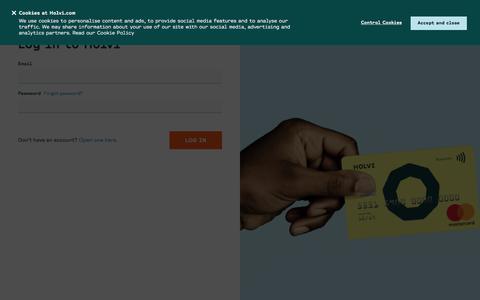 Screenshot of Login Page holvi.com - Log in - Holvi - captured Dec. 1, 2019