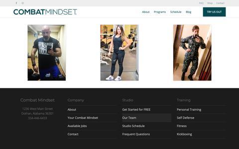Screenshot of Team Page combatmindset.com - Team | Combat Mindset - captured Nov. 22, 2018