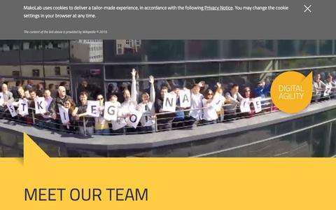 Screenshot of Team Page makolab.com - MakoLab - Digital Agility - People - captured April 15, 2016