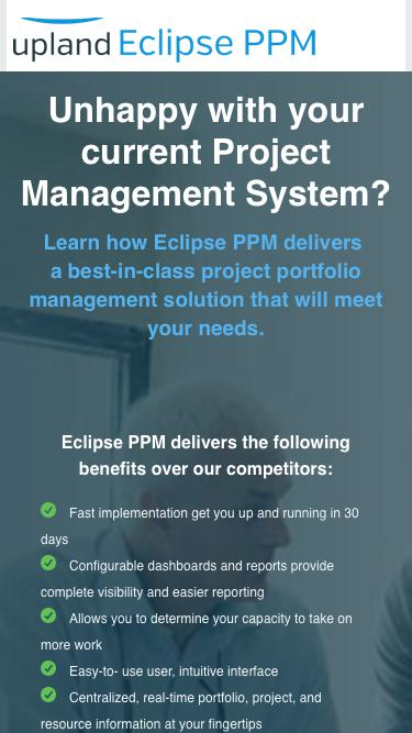 Best in Class Project Portfolio Management (PPM) Software - Eclipse | Upland Software