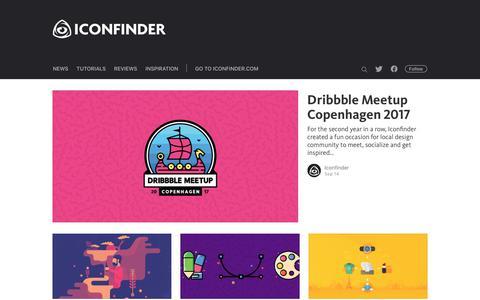 Screenshot of Blog iconfinder.com - The Iconfinder Blog - captured Sept. 16, 2017