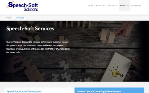 Screenshot of Services Page speech-soft.com - Unified Communication Solutions - Speech-Soft Solutions, LLC - captured Dec. 21, 2016
