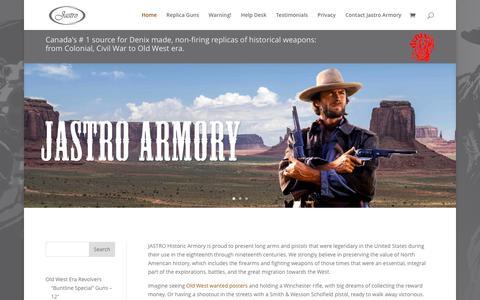 Screenshot of Home Page jastroarmory.com - Replica Guns Canada   Denix Replicas   Collector's Armoury   Denix Replica Guns Canada  Jastro Armory - captured Oct. 28, 2017