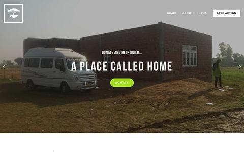Screenshot of Home Page odaio.org - odaio   NoChildLeftUnloved - captured Aug. 11, 2016
