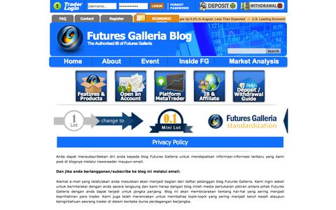 Screenshot of Privacy Page futuresgalleriablog.com - Privacy Policy - captured Sept. 23, 2014