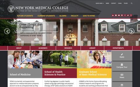 Screenshot of Home Page nymc.edu captured Nov. 21, 2016
