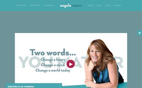 Screenshot of Press Page angelamaiers.com - Media — Angela Maiers - captured June 30, 2017
