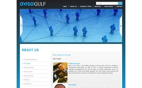 Screenshot of Team Page avisagulf.aero - The Team  | About Us | Avisa Gulf - captured Oct. 4, 2014