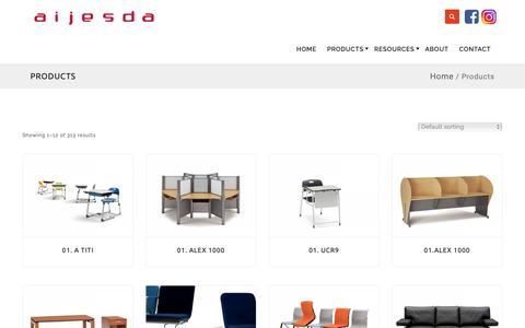 Screenshot of Products Page aijesda.com - Products – Aijesda - captured Dec. 18, 2018