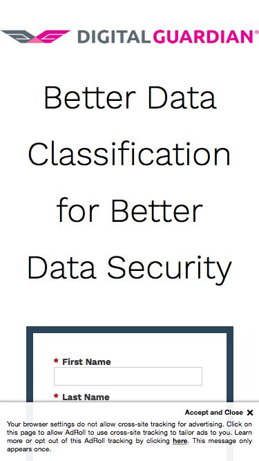 Better Data Classification for Better Data Security