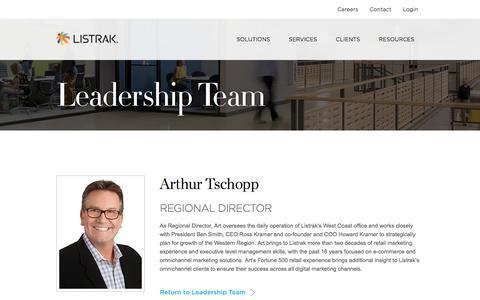 Arthur Tschopp   Leadership Team   Listrak