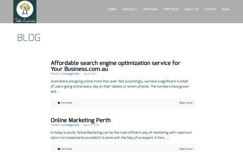 Screenshot of Blog talkaustralia.com.au - SEM And Web Developers Perth   Social Media Web Design - captured Oct. 7, 2014