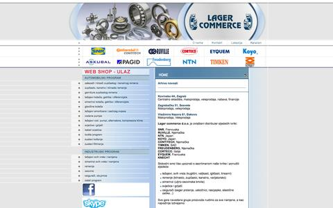 Screenshot of Home Page lagercommerce.hr - Lager Commerce - captured Oct. 1, 2014