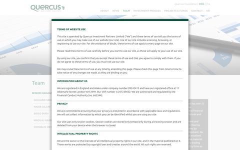 Screenshot of Team Page quercus-partners.com - Team - Quercus Investment Partners - captured Sept. 19, 2017
