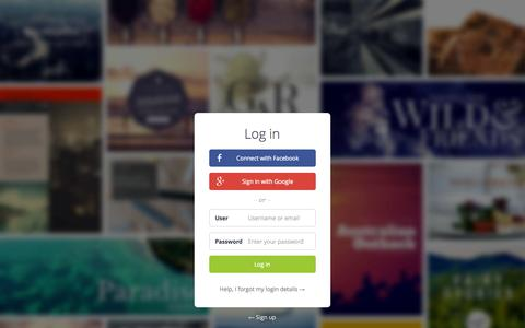 Screenshot of Login Page canva.com - Amazingly Simple Graphic Design Software – Canva - captured Nov. 18, 2015
