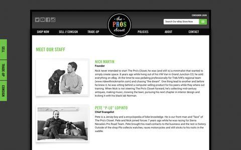 Screenshot of Team Page theproscloset.com - Our Team - The Pro's Closet - captured Feb. 28, 2016