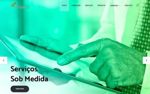 Screenshot of Home Page projecti.com.br - ProjecTI – AMS, Fábrica de Software, SAP, Consultoria de TI, Alocação - captured July 13, 2017